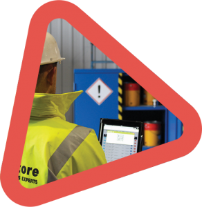 red triangle chemical storage