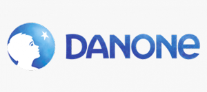 Danone Logo white background